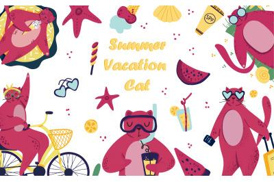 Summer Cat Vacation