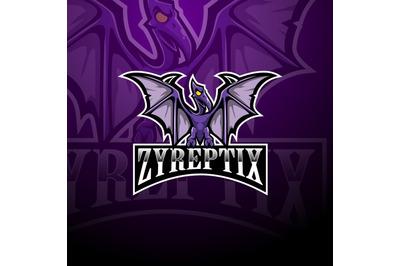 Pterodactylesport mascot logo