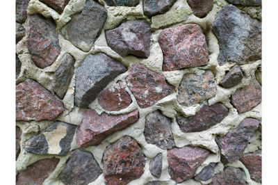 Grey stone granit and cement wall background, mosaic stonewall rubble
