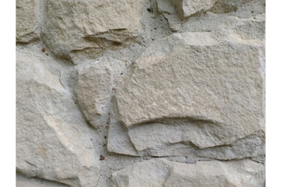 Grey stone cement wall background stonewall rubble facade closeup text