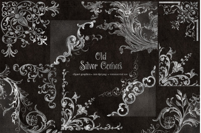 Old Silver Corners Clipart