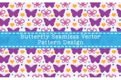Butterfly Seamless Vector Pattern Design