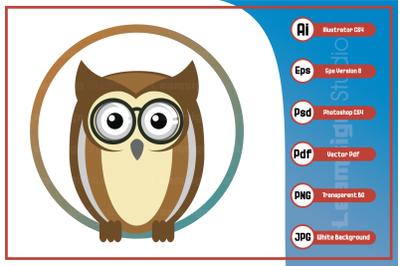 Mascot character smart owl