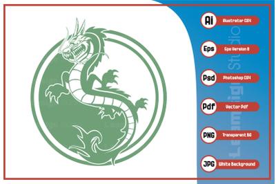 Mascot character dragon logo