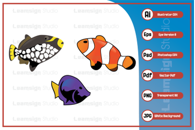 Mascot cartoon character fish vector