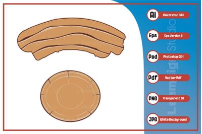 Illustration wood texture design vector