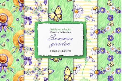 Summer garden digital paper