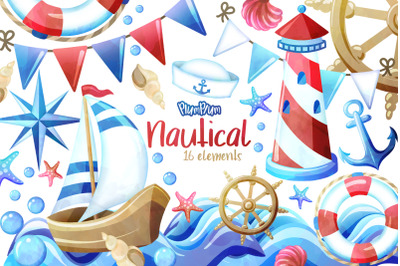 Nautical Watercolor Cliparts