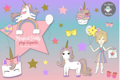 Unicorn clipart, birthday clipart
