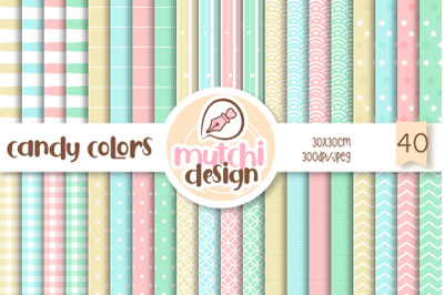 Candy Colors  Digital Papers Set