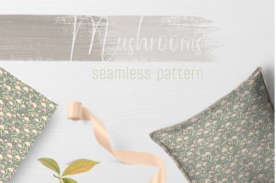 Mushrooms seamless pattern