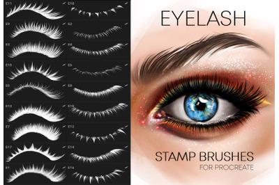 Procreate Eyelashes brushes Makeup