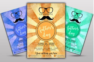 Fathers Day Celebration Flyer