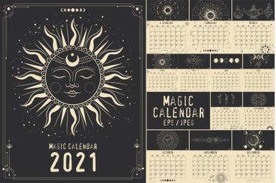 Magic calendar 2021