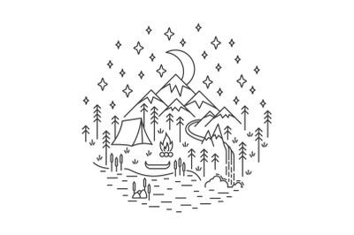 Camping nature scene