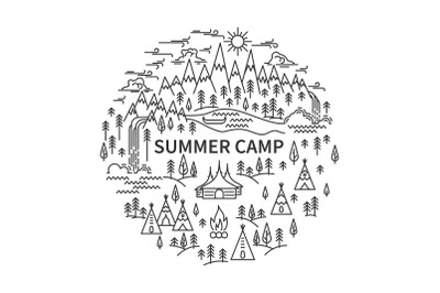 Banner for camping