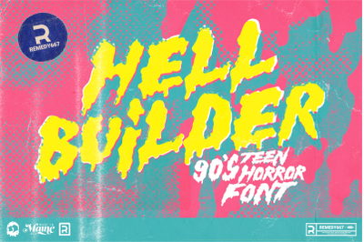 Hell Builder - 90's Teen Horror Font
