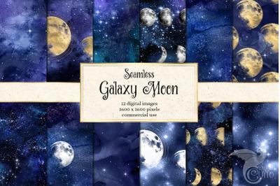 Galaxy Moon Digital Paper