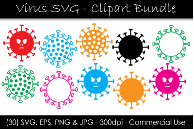 Virus SVG Bundle - Coronavirus Clipart