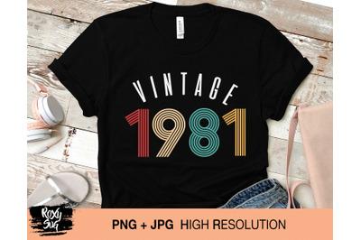 Vintage 1981 svg, vintage birthday svg, vintage svg, 39th birthday svg