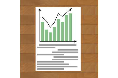 Document with chart up