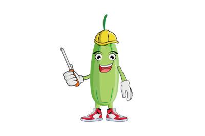 Bilimbi Construction Worker Fruit Cartoon Character