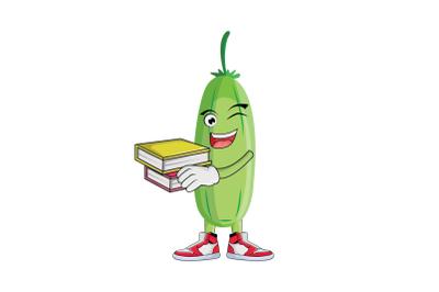 Bilimbi With Books Fruit Cartoon Character