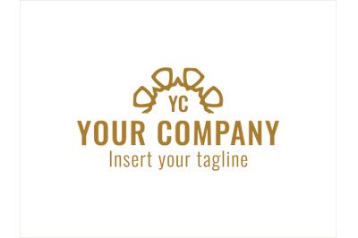 Logo Gold Vector Semicircle Line