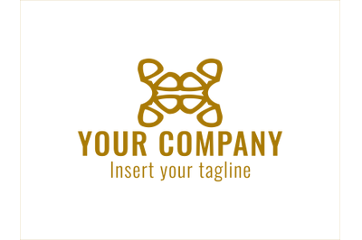 Logo Gold Vector Ornament One Color
