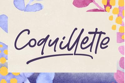 Coquillette | A Handwritten Script
