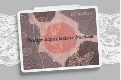 10 Vintage Paper Texture Procreate Brushes