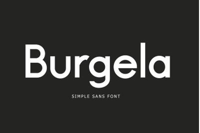 Burgela Simple Sans Font