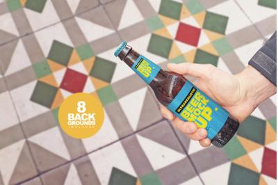 Get Beer Bottle Mockup