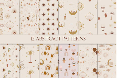 Abstract patterns. Minimalism in pastel colors