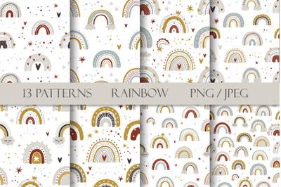 Patterns. Cute rainbow