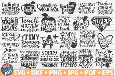 Teacher Quotes SVG Bundle | 25 designs