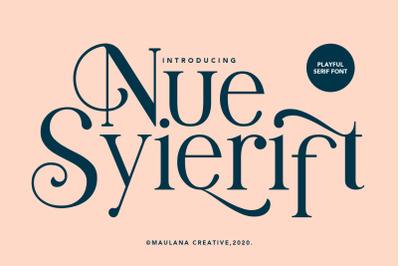 Nue Syierift - Playful Serif Font