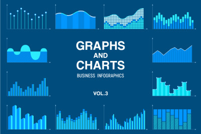 Statistic, business data graphs and charts vector set. Infographics.