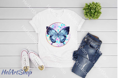 Butterfly sublimation png, Watercolor png, Summer Png