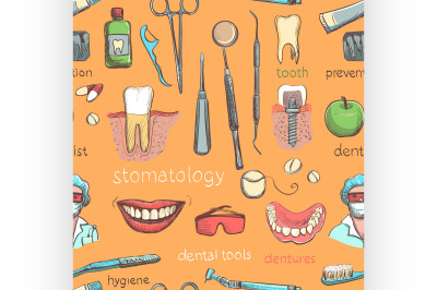 Dental seamless pattern.