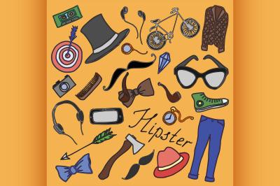 Doodle vektor hipster