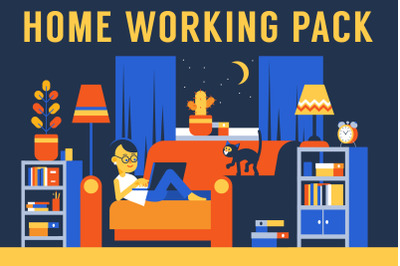 Home Working People With Laptop