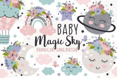 Baby magic sky