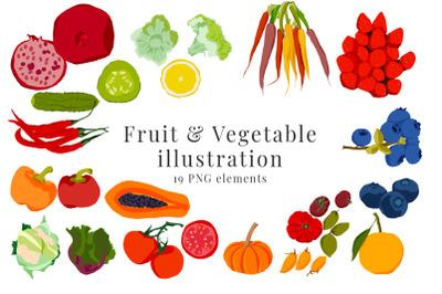 Fruit and Vegetable Illustration Clip art, 19 png