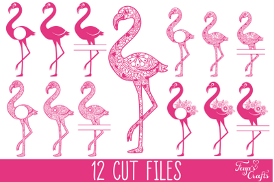 Flamingo SVG, Flamingo Mandala SVG, Flamingo Monogram SVG