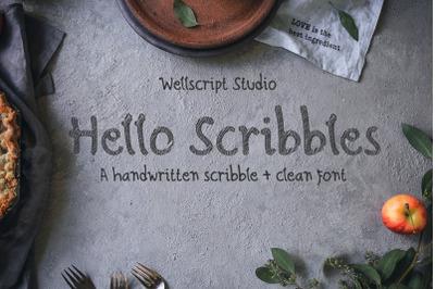 Hello Scribbles - Handwritten Font