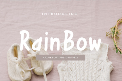 Rainbow Font and Graphics