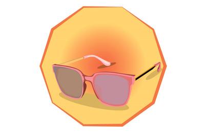 fashion pink sunglasses for women