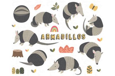Cute Armadillos Collections Set ll