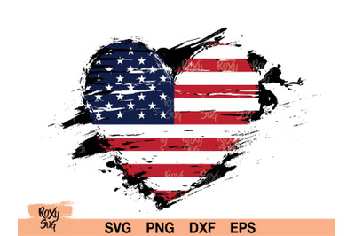 Distressed American Flag svg, American flag SVG, 4th July svg